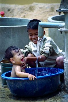 Bath Time smiles in The Philippines.