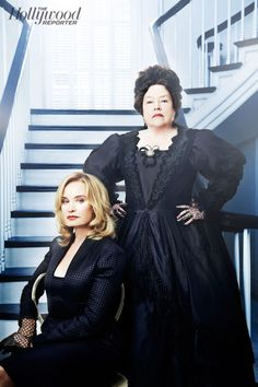Jessica Lange and Kathy Bates Jessica Lange (left), who has been part of the FX series since its first season, stars opposite Kathy Bates in...