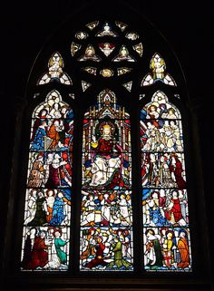 Memorial Stained Glass Window - The Church - Hughenden Manor - Buckinghamshire - England