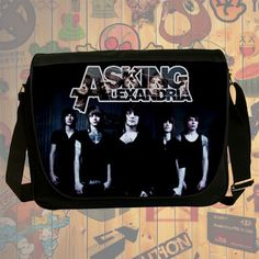 "NEW Custom : Asking Alexandria 14"" Messenger School Laptop Bag By Gift Ideas #10"