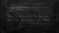 New Year's Resolution....be an active advocate!