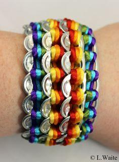 Rainbow Pop Tab Bracelet by LWaite.deviantart.com on @deviantART