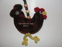 crochet rooster free patterns | Rooster - crochet free pattern in English