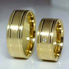 Gold Wedding Rings, Wedding Bands, Gold Rings, Engagement Rings Couple, Edm, Chains, Rings For Men, Jewelry, Diamond Engagement Rings