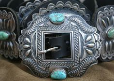 My magic concho belt...sterling, Carico Lake turquoise