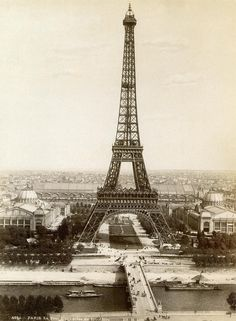 Paris: Eiffel Tower, 1900- And someday we shall meet in Paris, under the Eiffel Tower and share a kiss meant to shatter yesterdays's walls and build tomorrow's promisses.