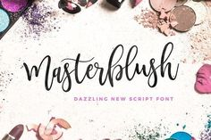 Masterblush Font by Mats-Peter Forss t's an ultra-modern typeface with a tasty flow, snap-perfect characters and start & end swashes #affiliate