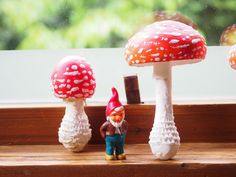 mushrooms which I made with clay