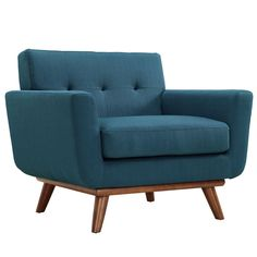 Engage Wooden Leg Mid Century Armchair - for den?