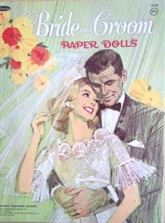 1958 Bride and Groom Paper Dolls