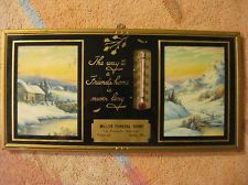 Dallas Wisconsin Advertising Thermometer Miller Funeral Home Vintage