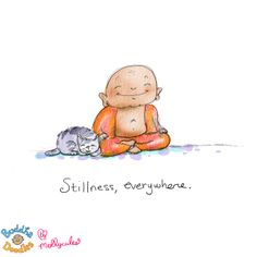 *Today's Buddha Doodle* - Stillness, everywhere