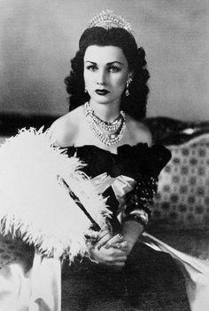 Fawzia, reine d'Iran et Princesse d'Égypte.1939