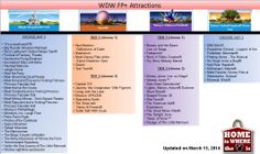 WDW FastPass+ Attractions Cheat Sheet updated on March 15, 2014.