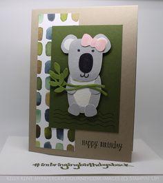 Playful Pals Koala Birthday Card #imbringingbirthdaysback. Happy Birthday #stampinup