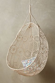 Anthropologie Knotted Melati Hanging Chair - ShopStyle Home(Diy Deco Boheme) Hanging Furniture, Kids Bedroom Furniture, Home Furniture, Furniture Chairs, Street Furniture, Rustic Furniture, Bedroom Ideas, Antique Furniture, Office Furniture