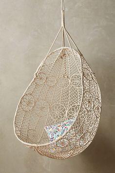 Knotted Melati Hanging Chair #anthropologie. Alex always picks the Anthropologie option. She has good taste.