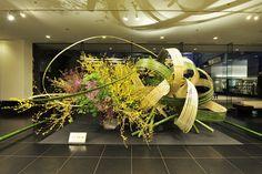 目黒雅叙園 草月流・家元 勅使河原 茜さんの作品 Ikebana by Akane Teshigaharaa