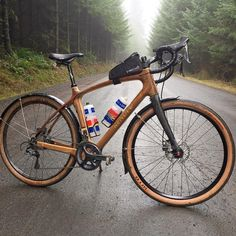 Does your adventure bike clear with fenders? The John Day does. Wooden Bicycle, Wood Bike, Archery, Biker, Cycling, Sport, Mtb, Vehicles, Woods