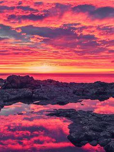Breath Taking Sunset Coastline
