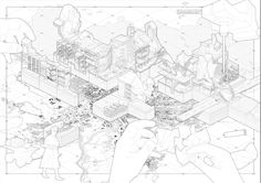 architektur diagramme The Phygital Warehouse Agostino Nickl Architecture Portfolio, Architecture Drawings, Architecture Design, Architecture Illustrations, Architecture People, Architecture Diagrams, Smout Allen, Apple Maps, Concept Diagram