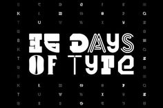 36 Days of Type Typeface Fonts 36 Days of Type Typeface - For this year's edition of this collaborative project around typography I by Noem9 Studio
