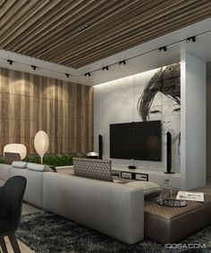 Home Designing — (via 4 Sleek Interiors Where Wood Takes Center...