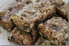 Click on the picture for a printable 4x6 recipe card I've  finally come up with a recipe for granola bars that we all really enjoy…and a...