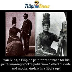 Juan Luna and wife Paz Pardo de Tavera Win Prizes, Pinoy, Filipino, Trivia, Rage, Philippines, Facts, History, Amazing