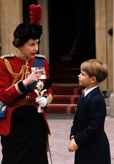 The Queen and Prince Edward.