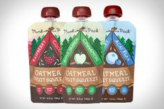 Munk Pack Oatmeal. Available in three tasty flavors - Apple Cinnamon Quinoa, Blueberry Acai Flax, and Raspberry Coconut