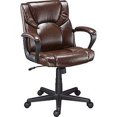 Staples Montessa II Luxura Managers Chair, Brown   Staples