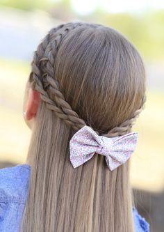 Rope Braid Tieback   Cute Girls Hairstyles