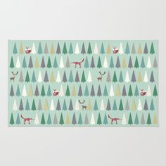 Forest Animals Area & Throw Rug