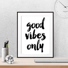 40% OFF Good vibes only Motivational gifts by LUCIAandLUCIANA