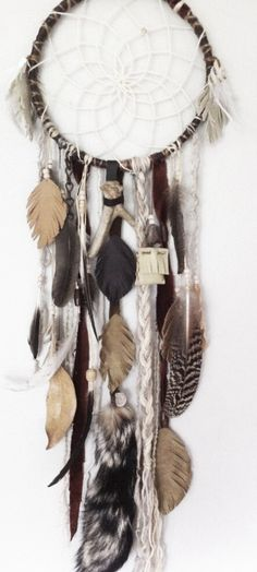 The prefect colors and feather for a dream catcher