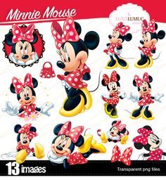 SUMMER SALE Minnie Mouse Disney, instant download, PNG background files
