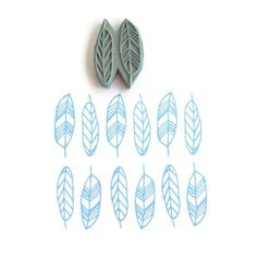 Geo Feathers Pattern Stamp
