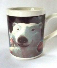 Coca Cola Mug Coffee Mug Cool Polar Bear Winter Soda Advertising Vintage 1996