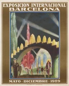 Exposicion Internacional Barcelona - Mayo-Diciembre 1929 by Artist Unknown | Vintage Posters at International Poster Gallery | Shop original vintage #posters online: www.internationalposter.com