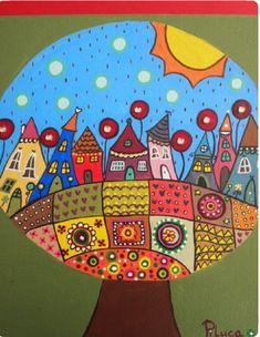 Pinturas Painted Rocks, Plates, Tableware, Painting, Art, Paintings, Acrylic Paintings, Licence Plates, Art Background