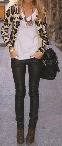 Really want a pair of leather pants! #casualfriday #jeansday