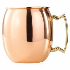 "Copper mule mug with a polished finish.     Product: Set of 4 mugs   Construction Material: Copper   Color: Polished copper  Features: 16 Ounce capacity each Durable construction Dimensions: 4.5"" H x 4.25"" Diameter each"