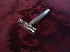 Edwin Jagger Double Edge Safety Razor Chrome Plated Lined Detail, Chrome for SALE! Wet Shaving, Shaving Cream, Best Safety Razor, Edwin Jagger, Razor Burns, Straight Razor, After Shave, Chrome Plating, Detail