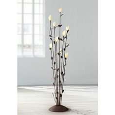 $350  Arbor Twisted Vine 9-Light Rust Floor Lamp