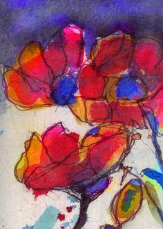mr marian hergouth, poppy - Mohn Poppy, Paintings, Artist, Sweetie Belle, Flowers, Paper, Canvas, Drawing S, Paint