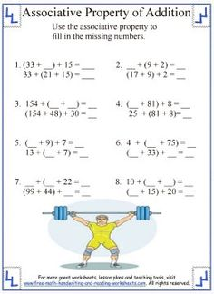 math worksheet : 1000 ideas about properties of addition on pinterest  : Commutative Property Of Addition Worksheets For First Grade