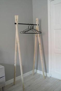 coat rack, diy, DIY, clothes rack, cloakroom - New Ideas Diy Clothes Rack Cheap, Diy Clothes Rack Pipe, Diy Rack, Diy Coat Rack, Diy Bedroom Decor, Diy Home Decor, Diy Furniture, Furniture Design, Diy Holz