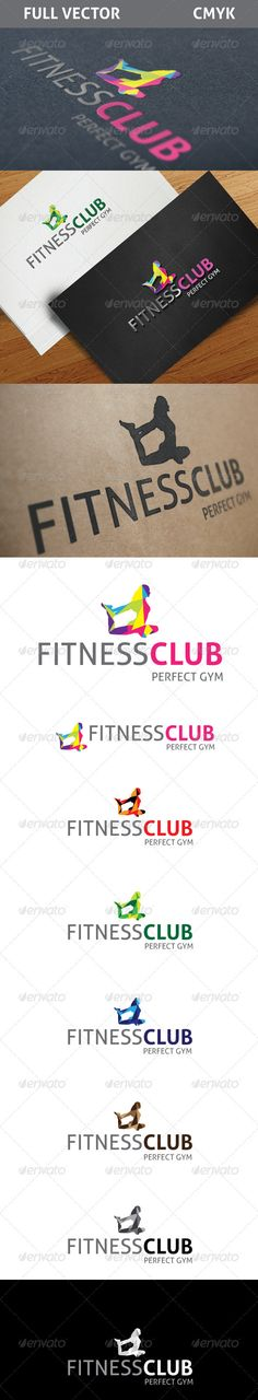 Fitness Club	 Logo Design Template Vector #logotype Download it here: http://graphicriver.net/item/fitness-club-logo/2517105?s_rank=243?ref=nesto