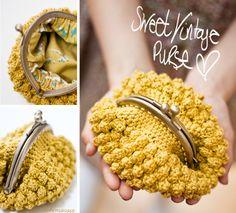sweet vintage crochet purse by eskimo*rose